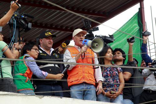 Alcalde de Lima, Jorge Muñoz supervisa simulacro en Chaclacayo