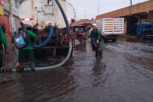 La Municipalidad Provincial de Lambayeque cuenta con equipos para evacuar las aguas pluviales.