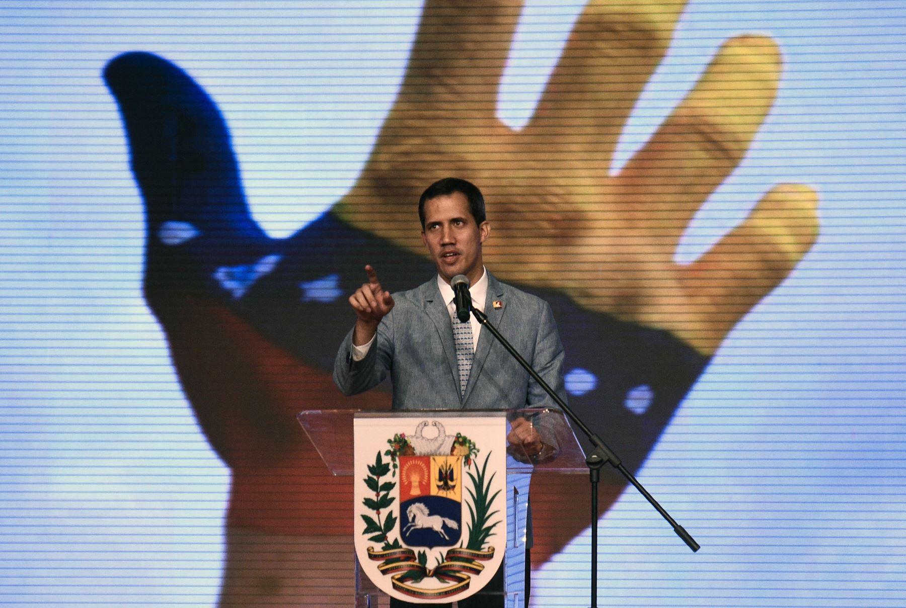 Juan Guaidó es reconocido presidente interino de Venezuela por el Parlamento Andino. Foto: AFP.