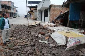 Reportan daños materiales en tres viviendas de San Martín por sismo de magnitud 7.7 en Loreto. ANDINA/Difusión