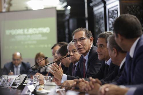 Presidente Vizcarra clausura X Gore Ejecutivo en Palacio de Gobierno
