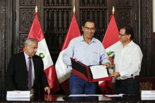 Presidente Vizcarra recibió propuesta para impulsar una minería sostenible al 2030