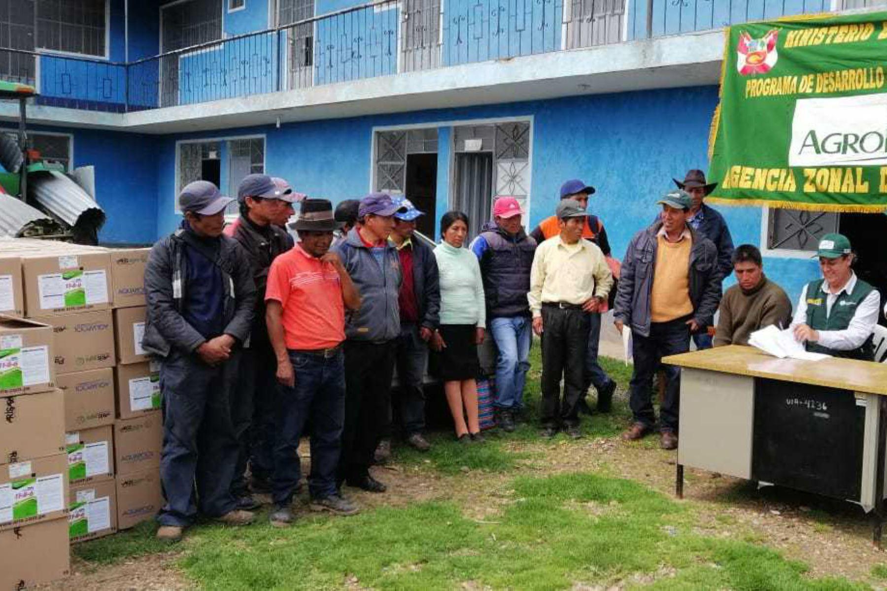 Ayacucho: Agro Rural culminó entrega de abono foliar a damnificados en 8 provincias