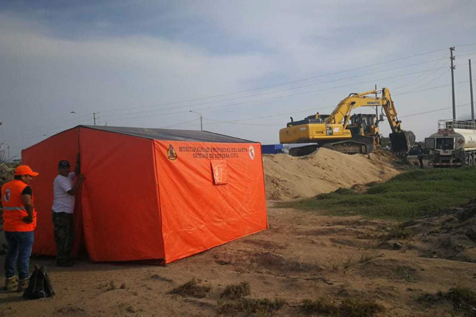 Áncash: emergencia por lluvias permite abastecer almacén en provincia del Santa