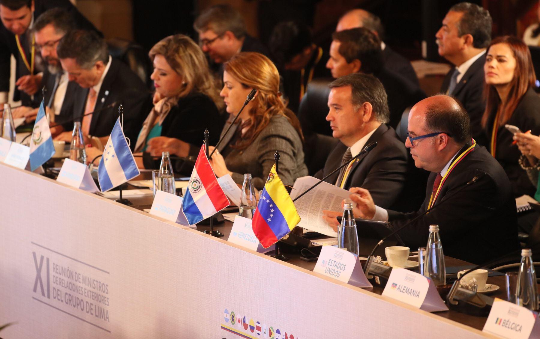 Grupo de Lima se reúne en Bogotá, Colombia, para tratar situación de Venezuela.