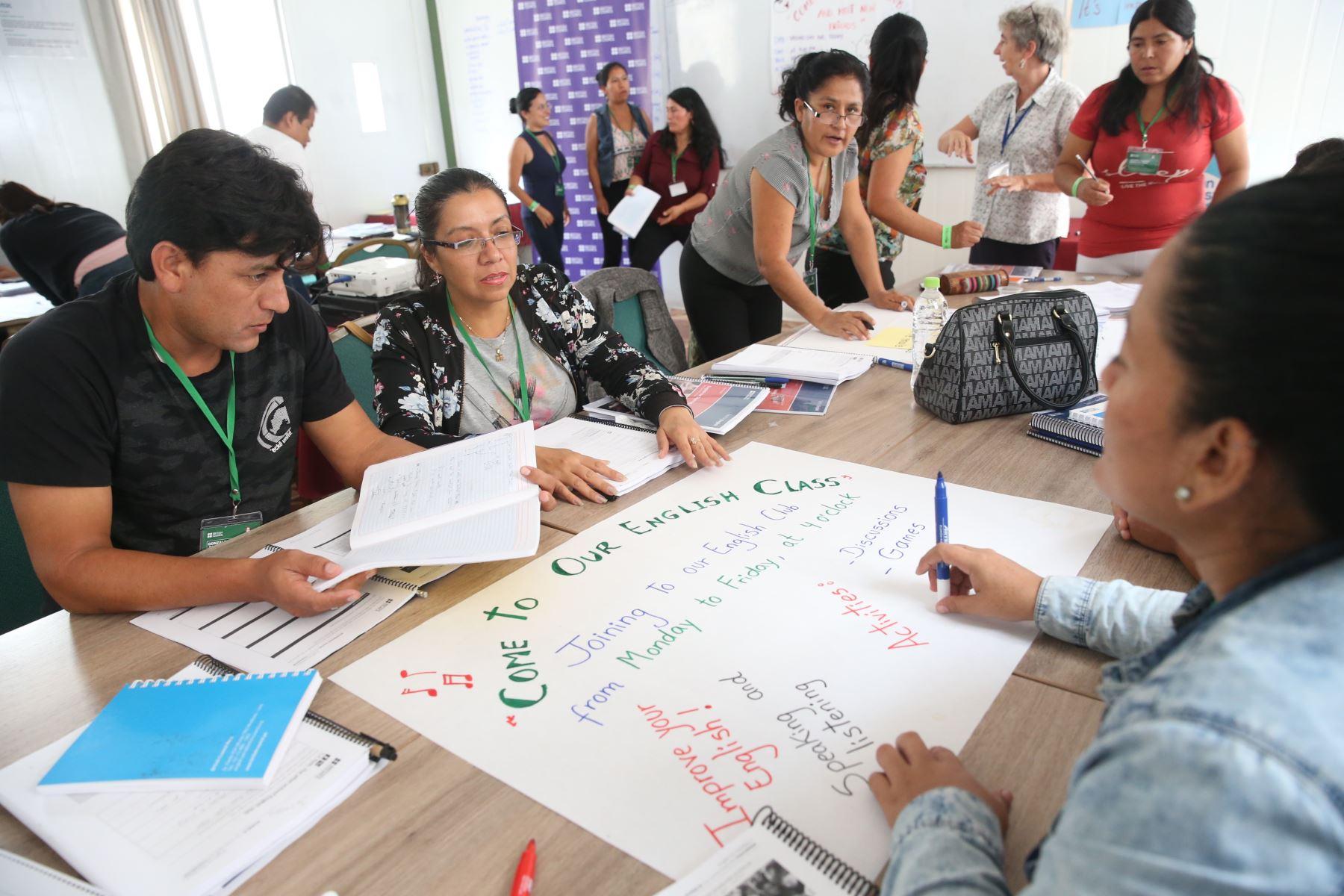 "Programa ""Summer School: curso de inmersión para profesores de inglés"". Foto: ANDINA/Vidal Tarqui."