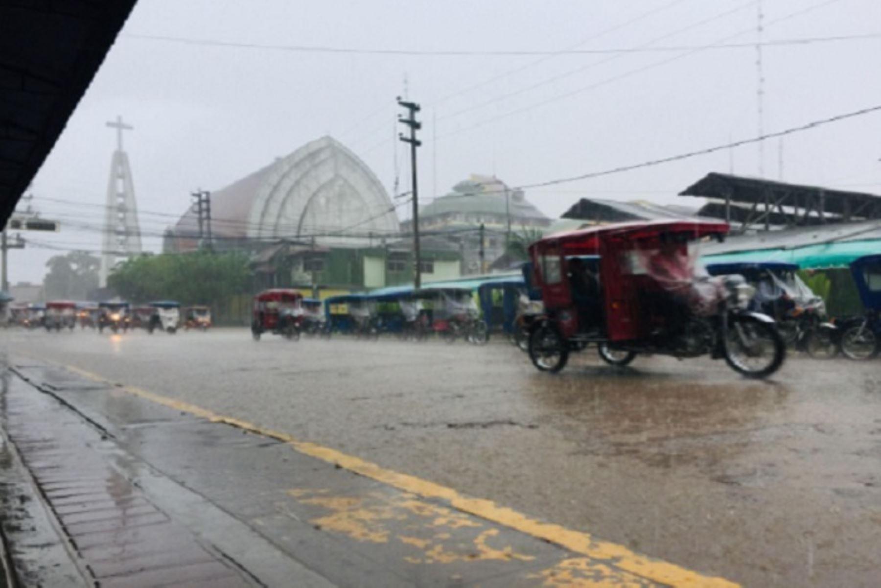 ¡Atención! Lluvias intensas se presentarán en la selva de 11 regiones
