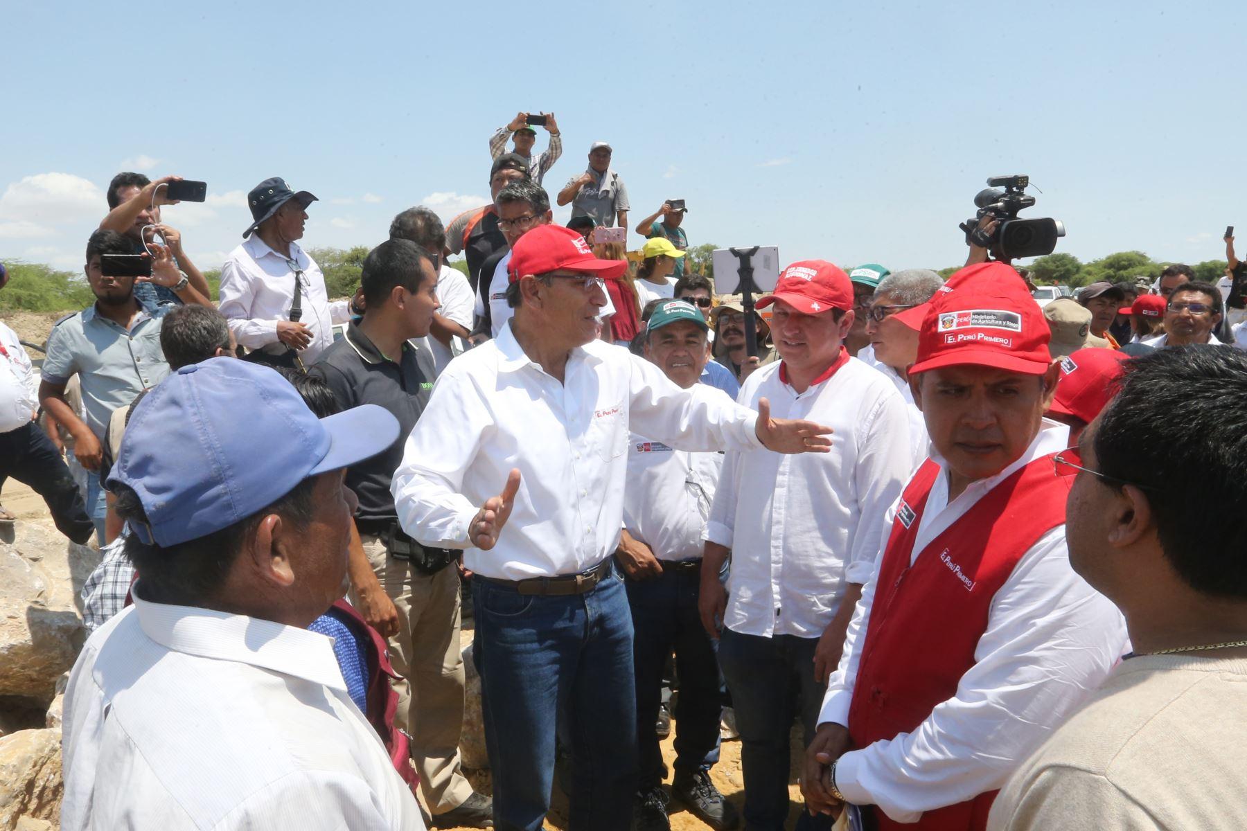 Presidente Martín Vizcarra inaugurará obras de infraestructura en Piura. ANDINA/Jhony Laurente