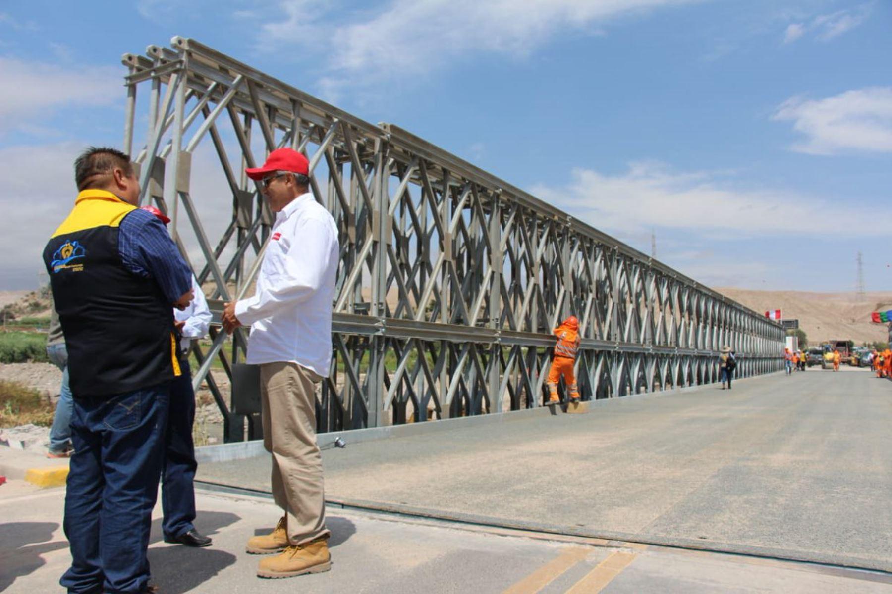 El tránsito vehicular por puente modular tipo Bailey que reemplaza al colapsado puente Montalvo se reanudará mañana domingo 3 de marzo