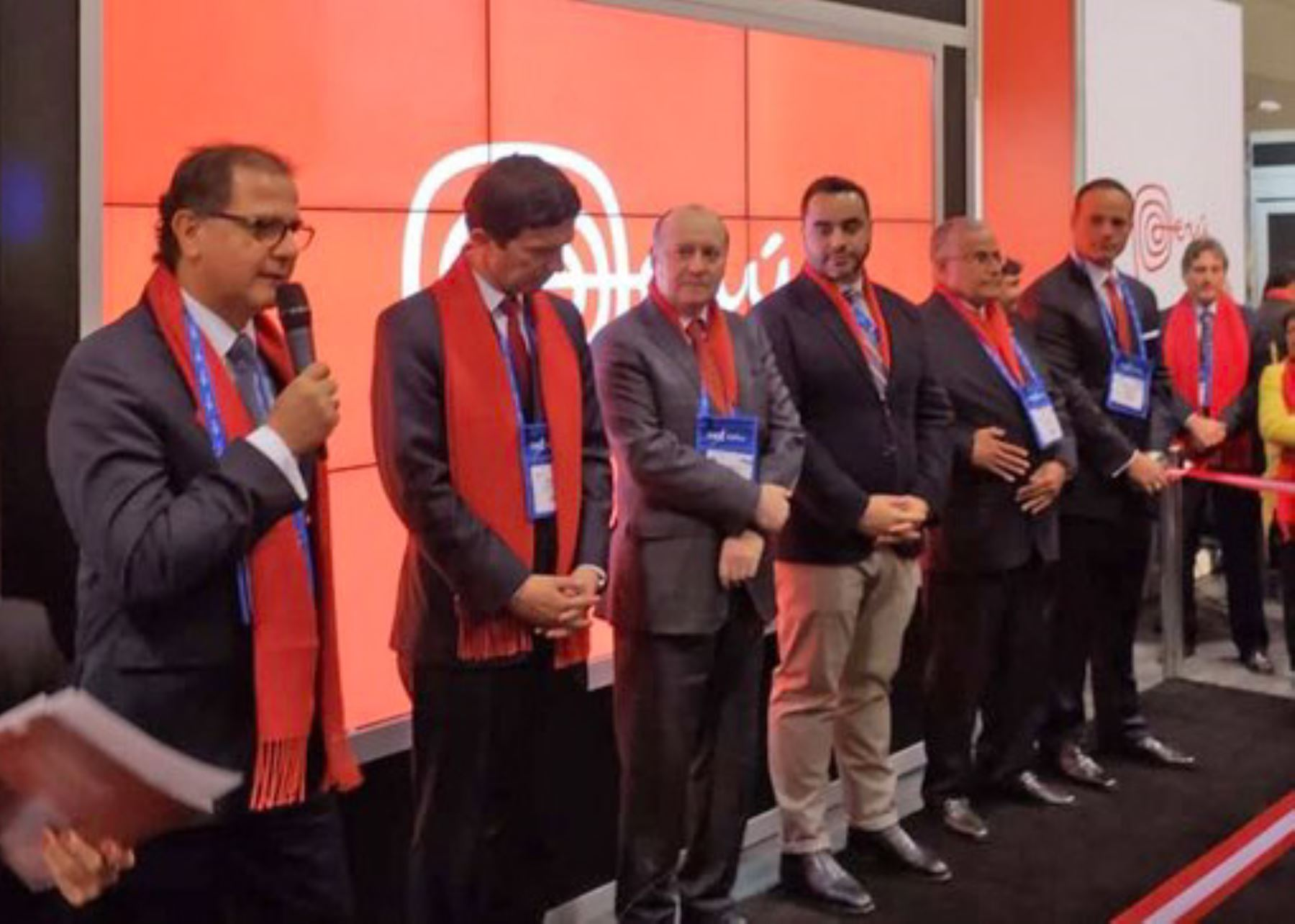 dea91408206648 Peru inaugurates stand at mining convention in Canada Andina -