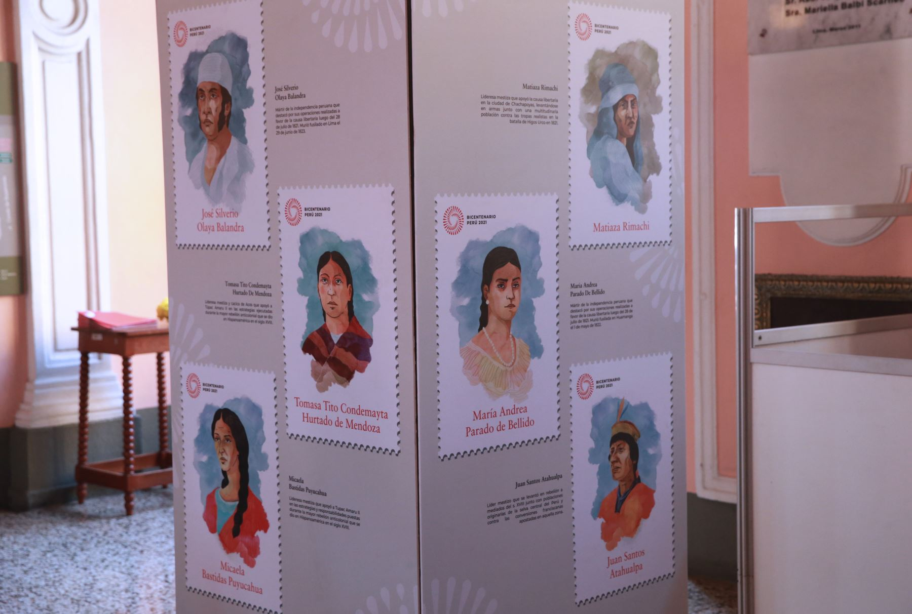 04/03/2019   Ministerio de Cultura y Serpost presentarán la colección especial de sellos y matasellos postales en homenaje a los personajes e hitos emblemáticos más destacados de la historia de nuestro paísFoto: ANDINA/Norman Córdova