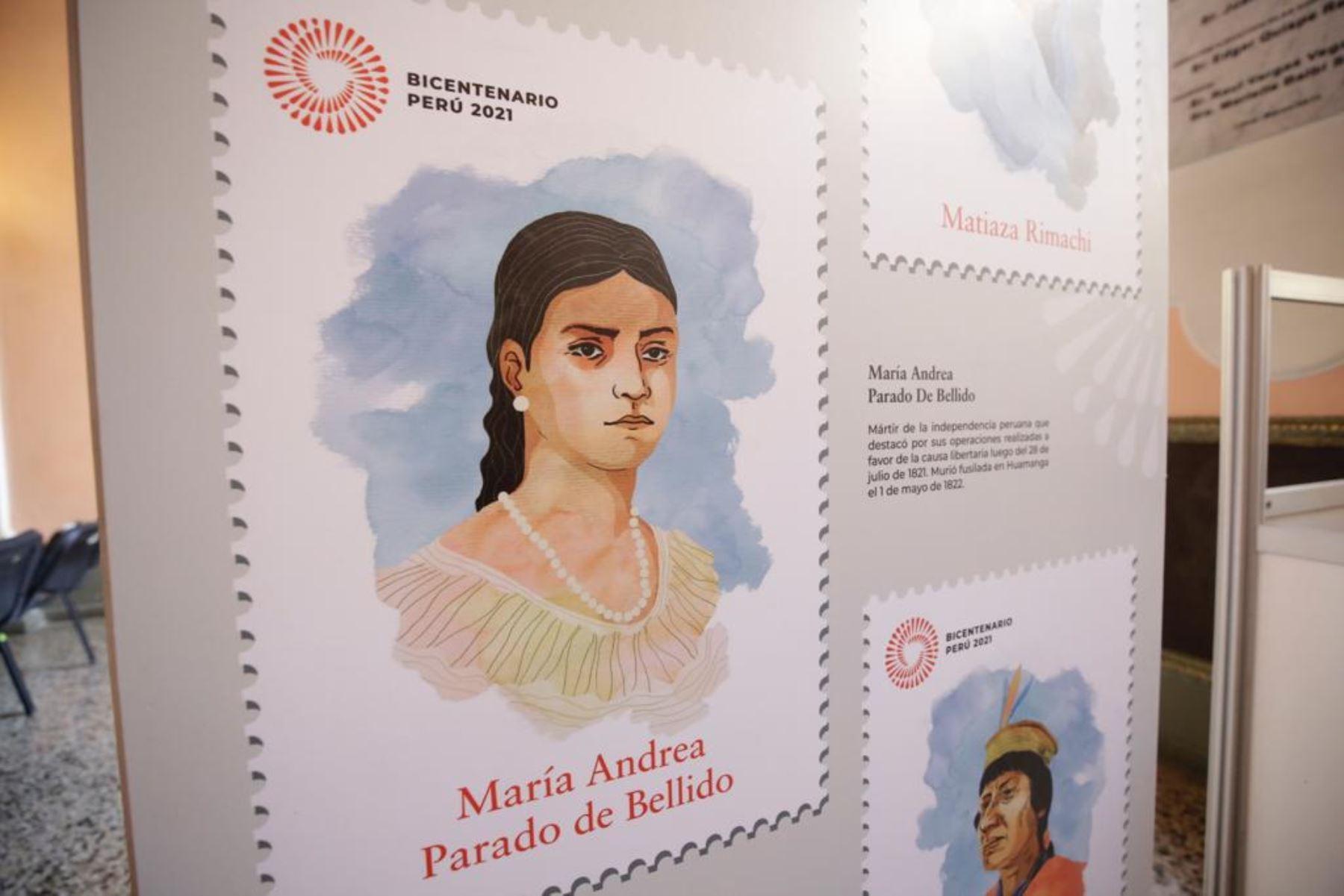 Muestra de algunos de los sellos creados en honor al Bicentenario.