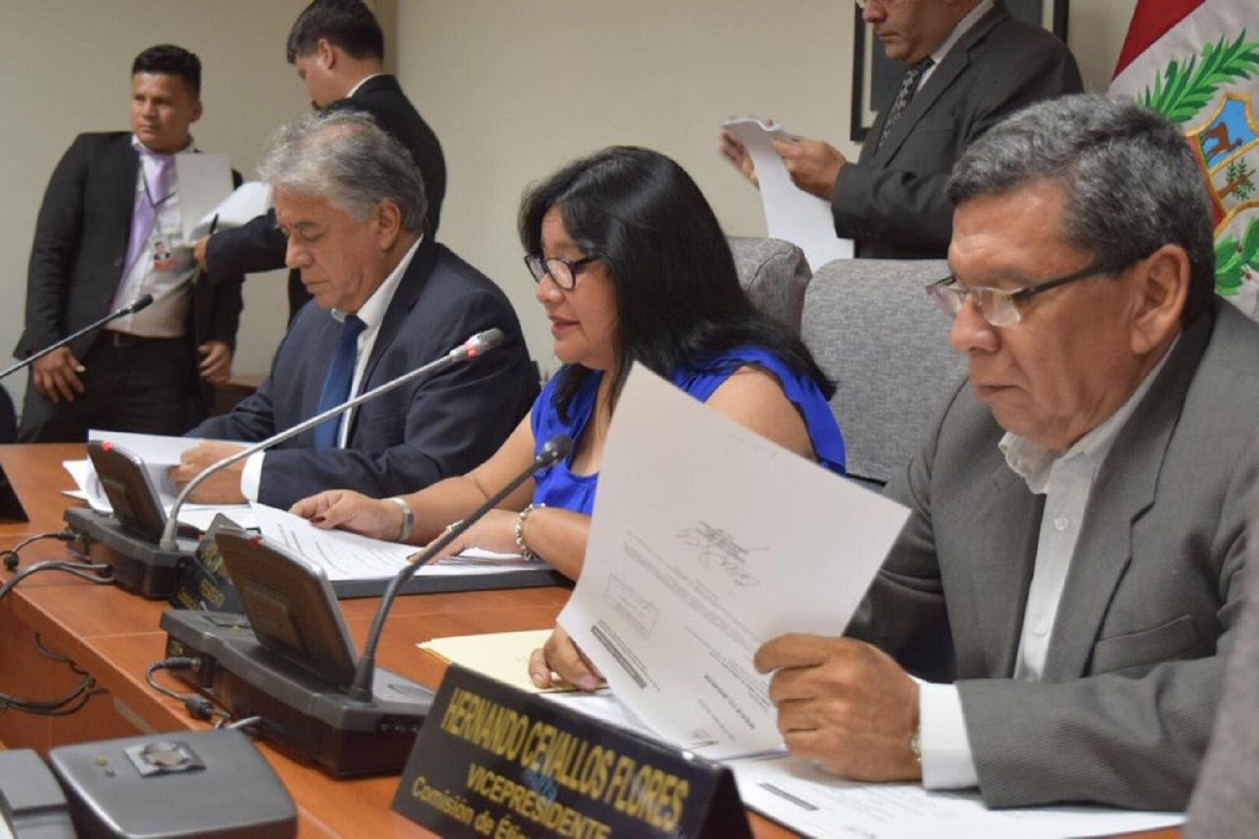 Comisión de Ética Parlamentaria. Foto: Congreso.