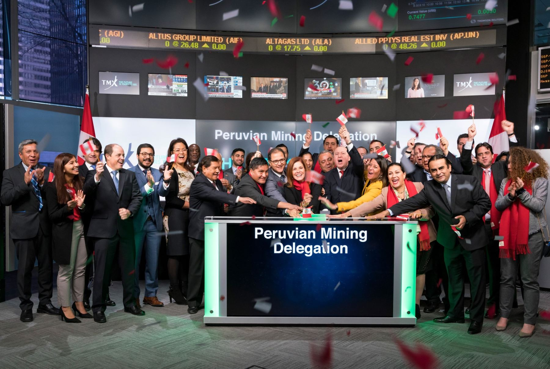 Peruvian delegation rings TSX opening bell in Canada | News