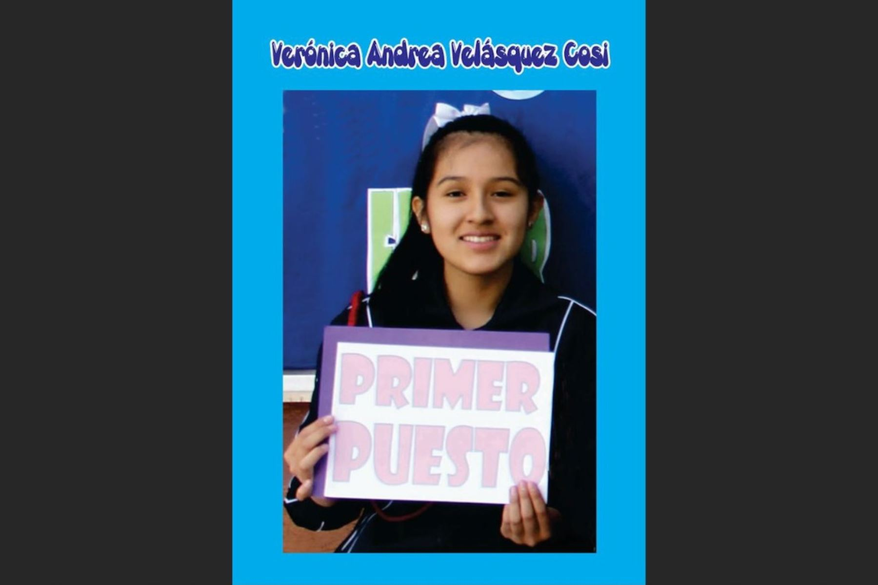Verónica Andrea Velásquez Cosi, natural de Arequipa, ocupó el primer lugar en el examen de admisión a los colegios de alto rendimiento. Foto: colegio Lourdes Arequipa/Facebook.