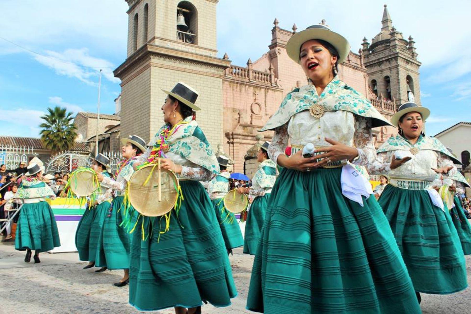 El Carnaval Ayacuchano es uno de los 19 carnavales declarados Patrimonio Cultural de la Nación. ANDINA/Difusión