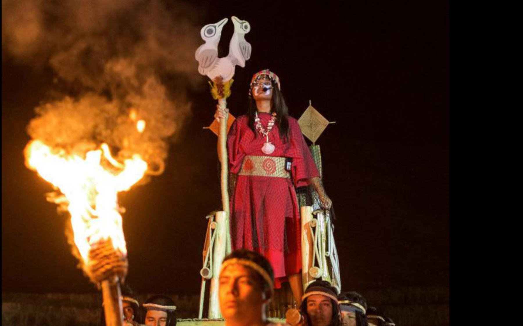 Representación de la sacerdotisa de la civilización Caral, desarrollada hace 5,000 años. Foto: ANDINA/Proyecto Arqueológico Caral