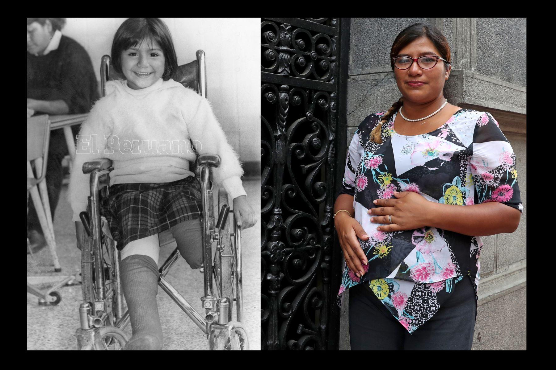 Vanessa Quiroga quien fuera la niña símbolo de Tarata en la misma calle de Miraflores.Foto: Andina/ Melina Mejía