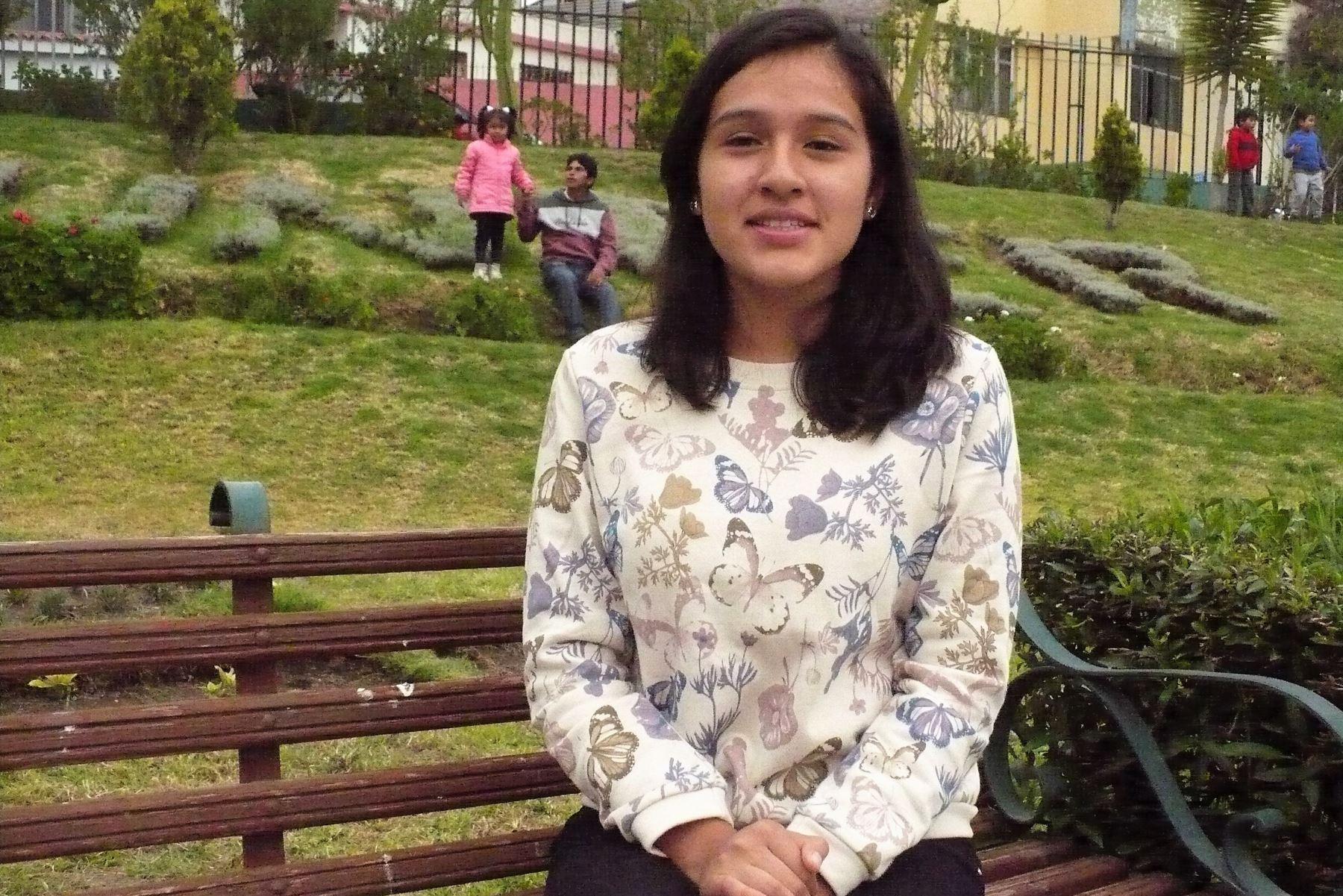 Verónica Velásquez, la estudiante arequipeña que logró el primer puesto en examen de admisión a los COAR. ANDINA