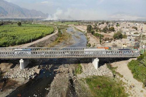 MTC destina más de S/ 100 millones a Áncash para rehabilitar puentes. ANDINA/Difusión