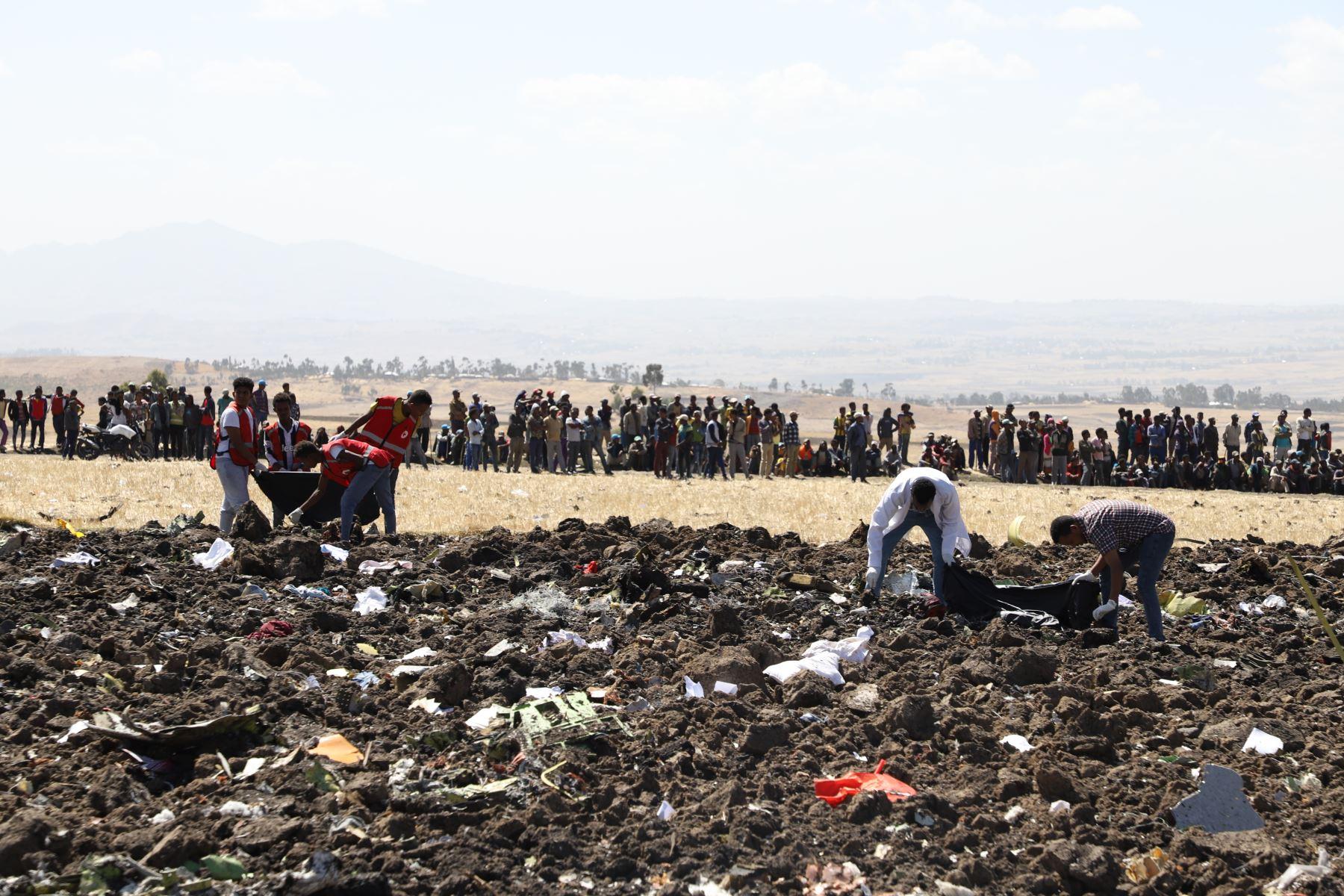 Accidente de avión de Ethiopian Airlines. AFP