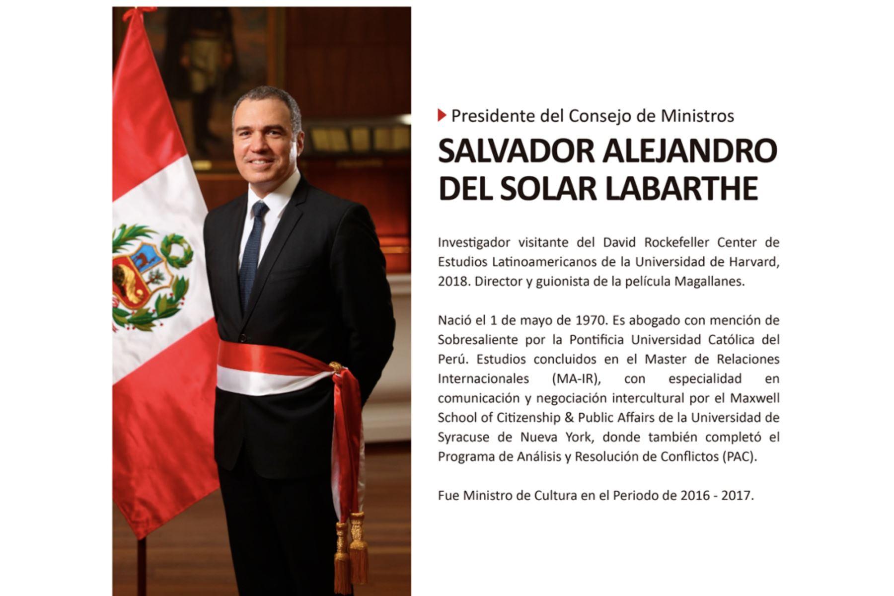 Presidente del Consejo de Ministros, Salvador del Solar