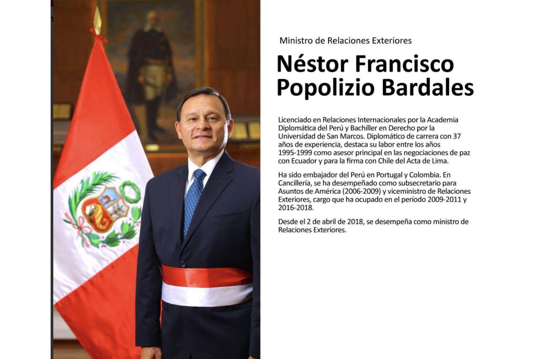 Néstor Popolizio, ministro de Relaciones Exteriores