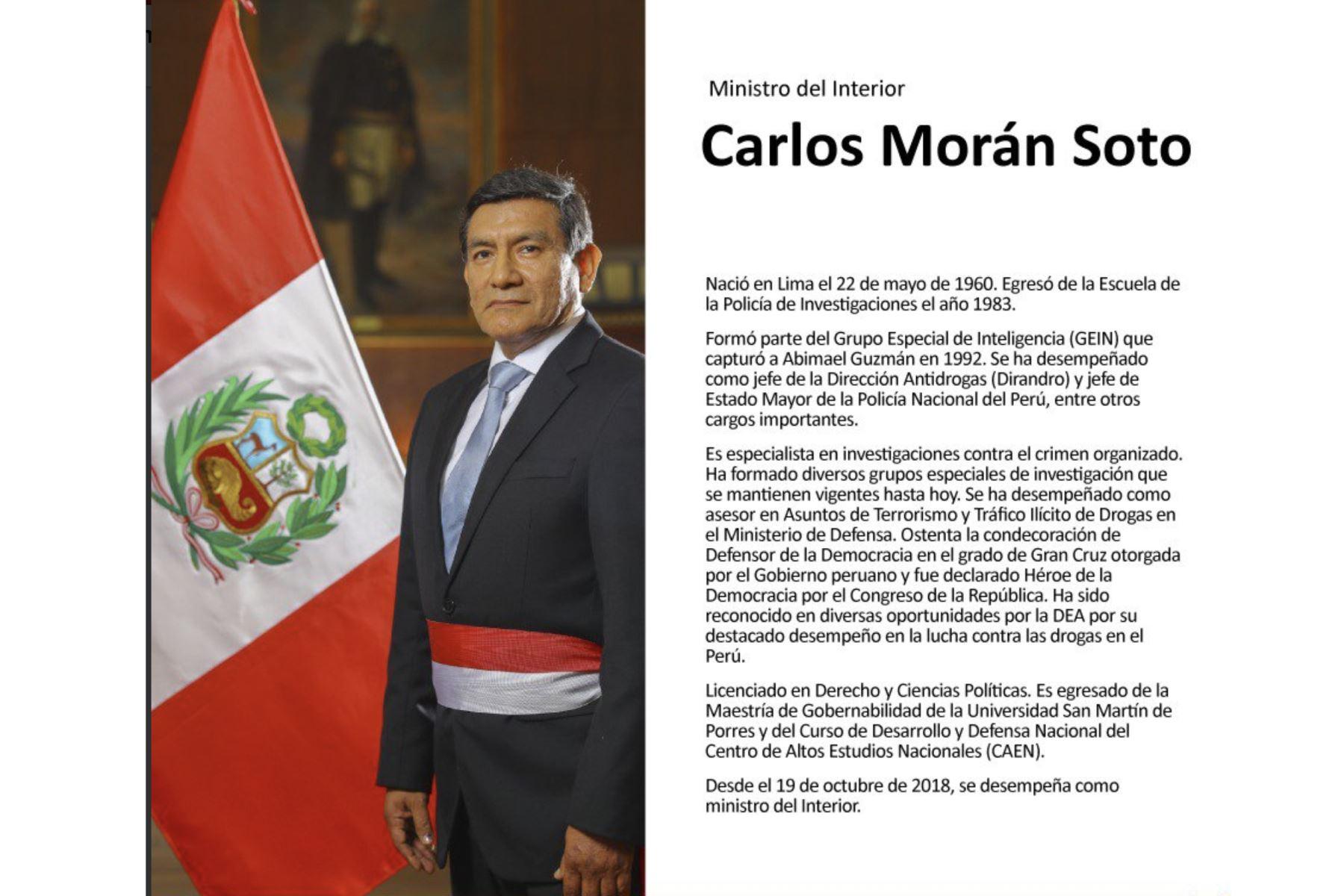Carlos Morán, ministro del Interior