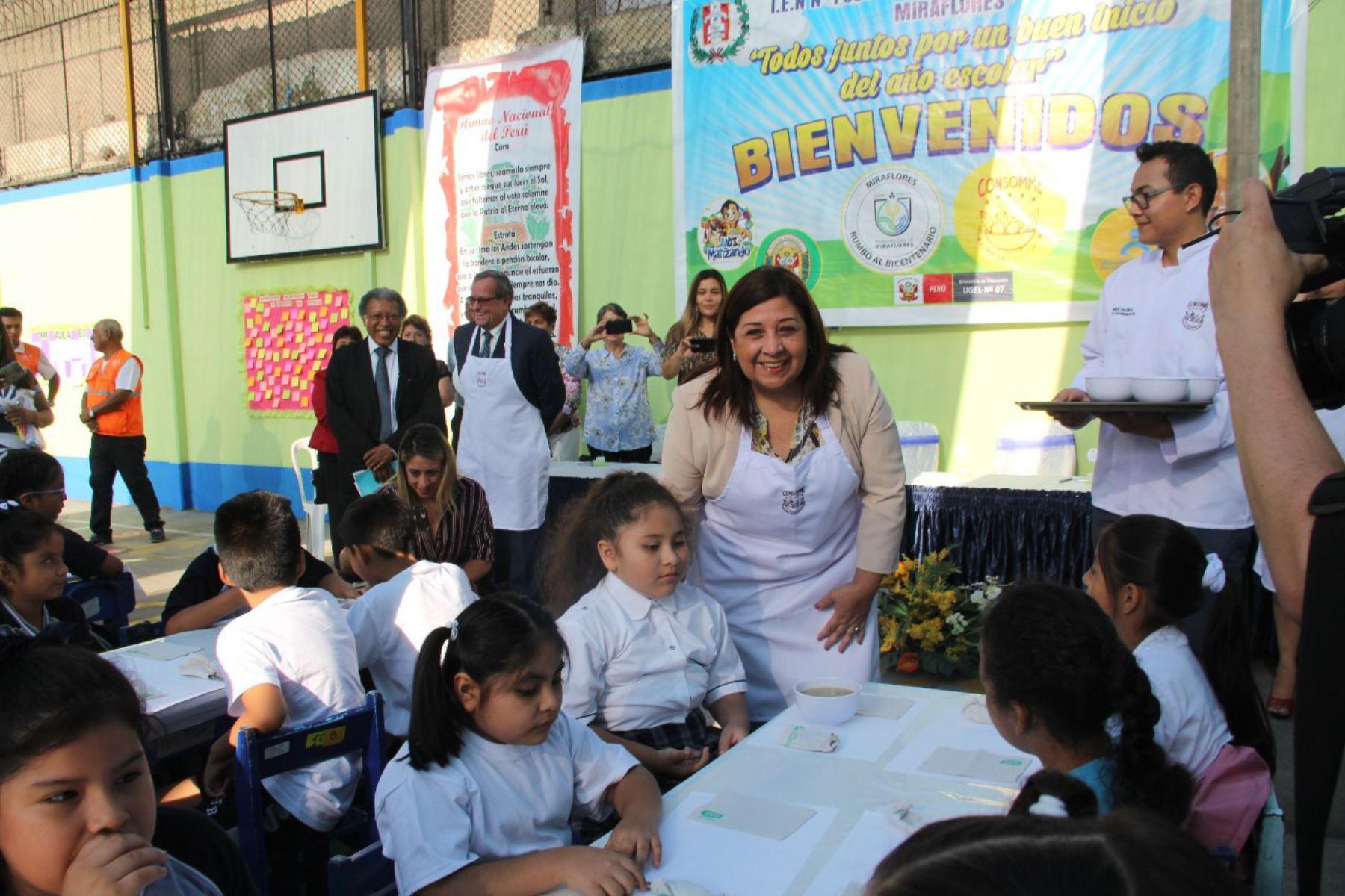 Inicio del año escolar 2019 en Miraflores. Foto: Andina/Difusión