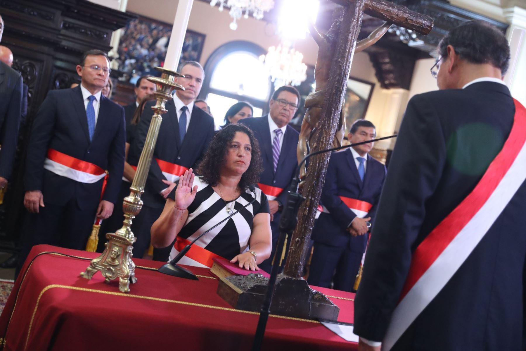 Fabiola Muñoz juramenta como ministra de Agricultura y Riego. Foto: ANDINA/Prensa Presidencia