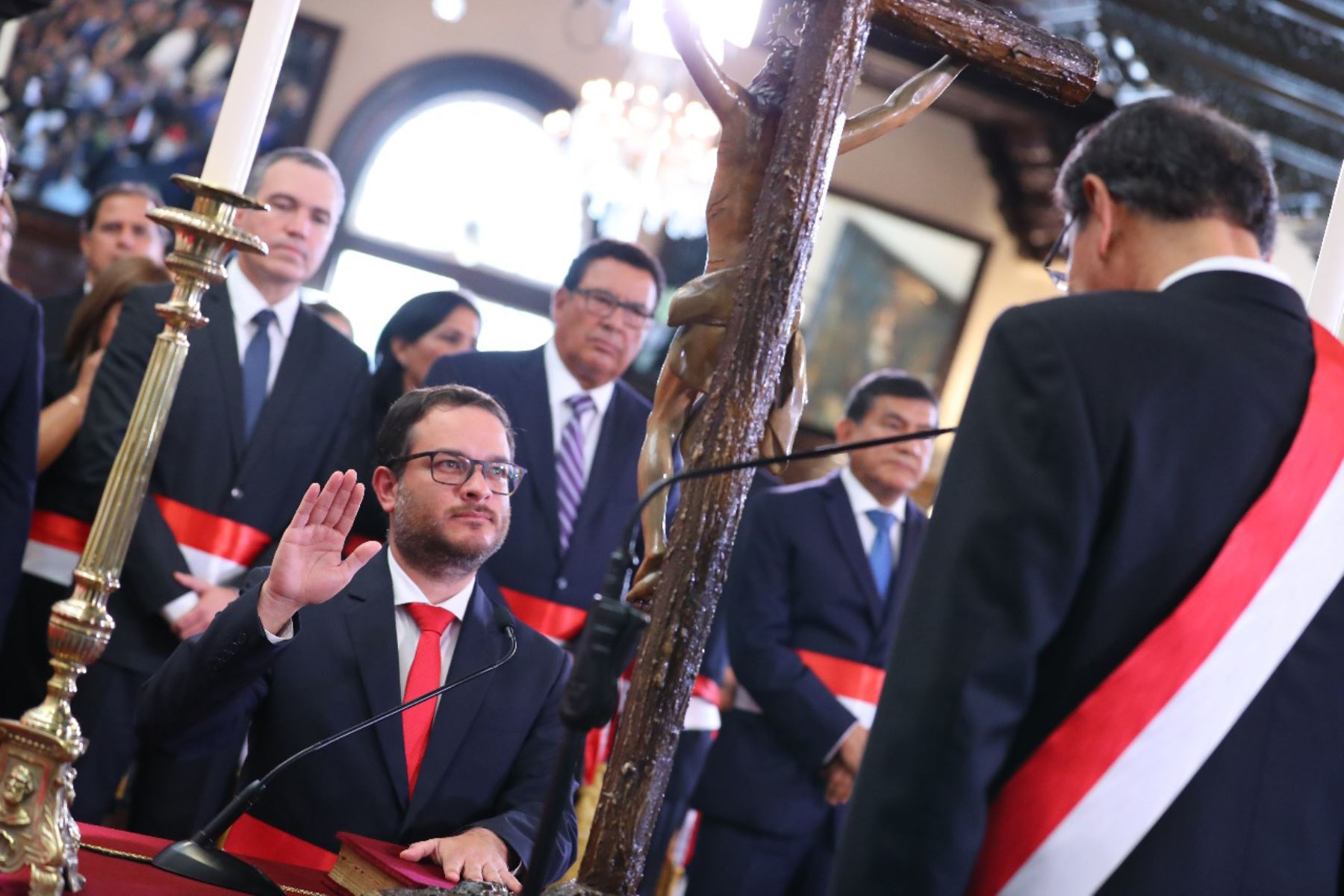 Edgar Vásquez juramenta como ministro de Comercio Exterior y Turismo. Foto: ANDINA/Prensa Presidencia