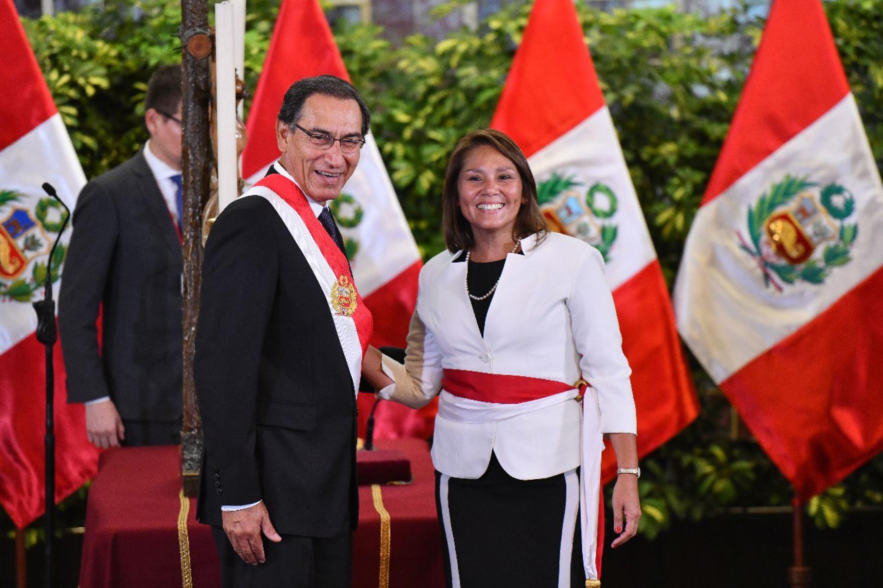 Paola Bustamante juramenta como ministra de Desarrollo e Inclusión Social. Foto: ANDINA/Prensa Presidencia