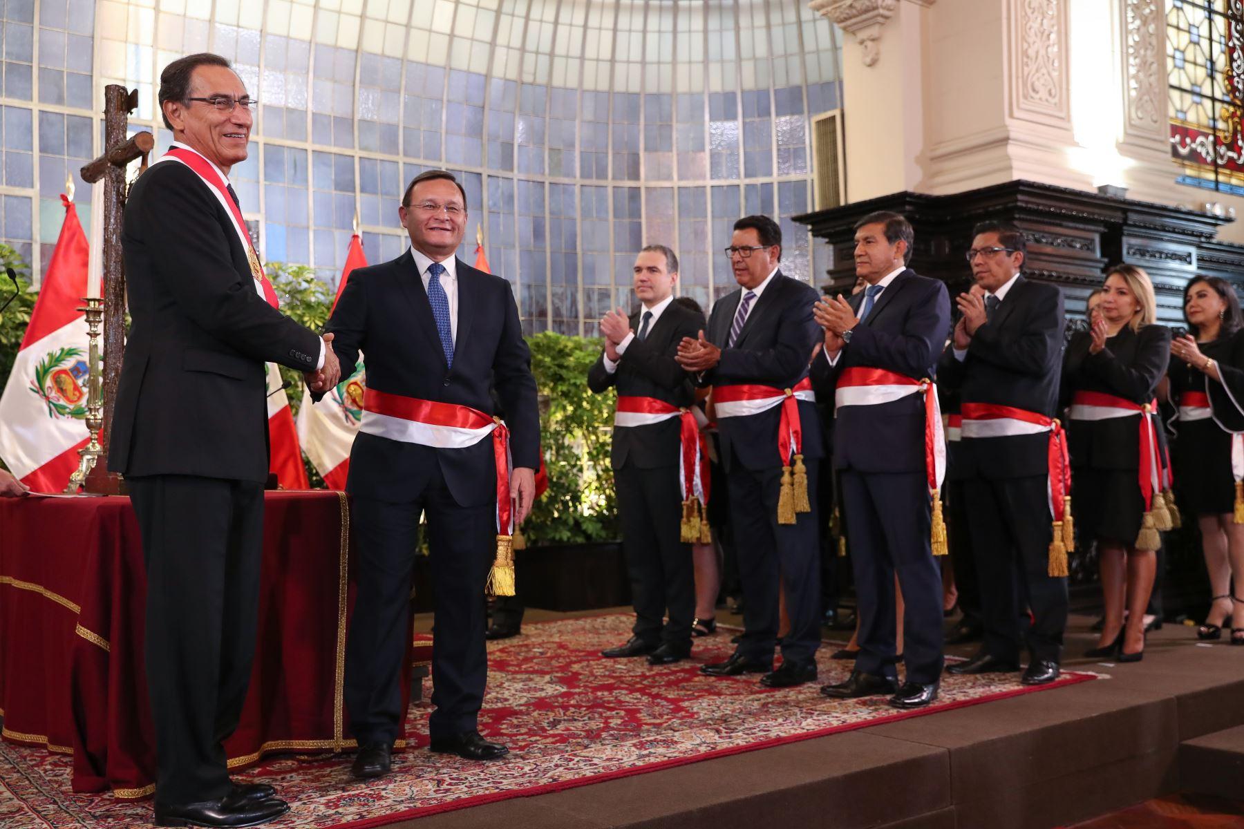 Nestor Popolizio juramenta como ministro de Relaciones Exteriores. Foto: ANDINA/Prensa Presidencia