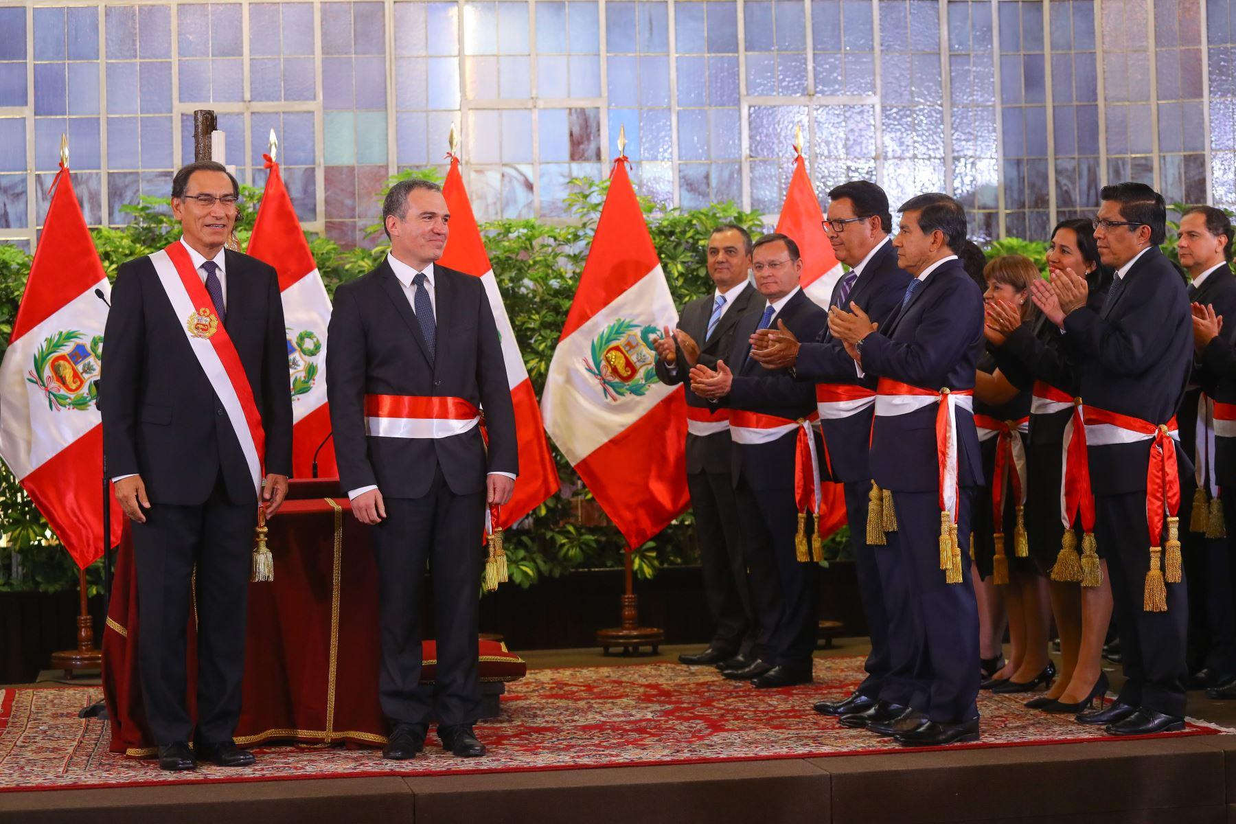 Salvador del Solar juramenta como nuevo presidente del Consejo de Ministros. Foto: ANDINA/Prensa Presidencia
