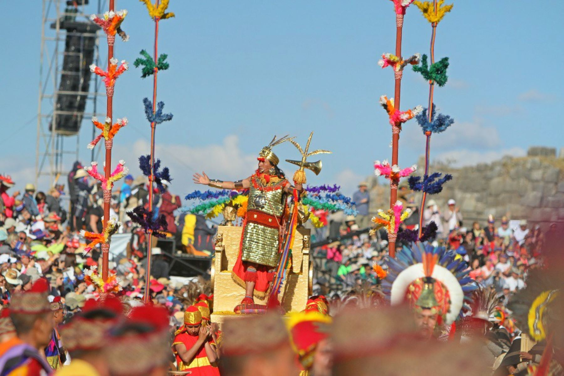 Escenificación del Inti Raymi 2019, en Cusco, será con responsabilidad ambiental. ANDINA/Percy Hurtado