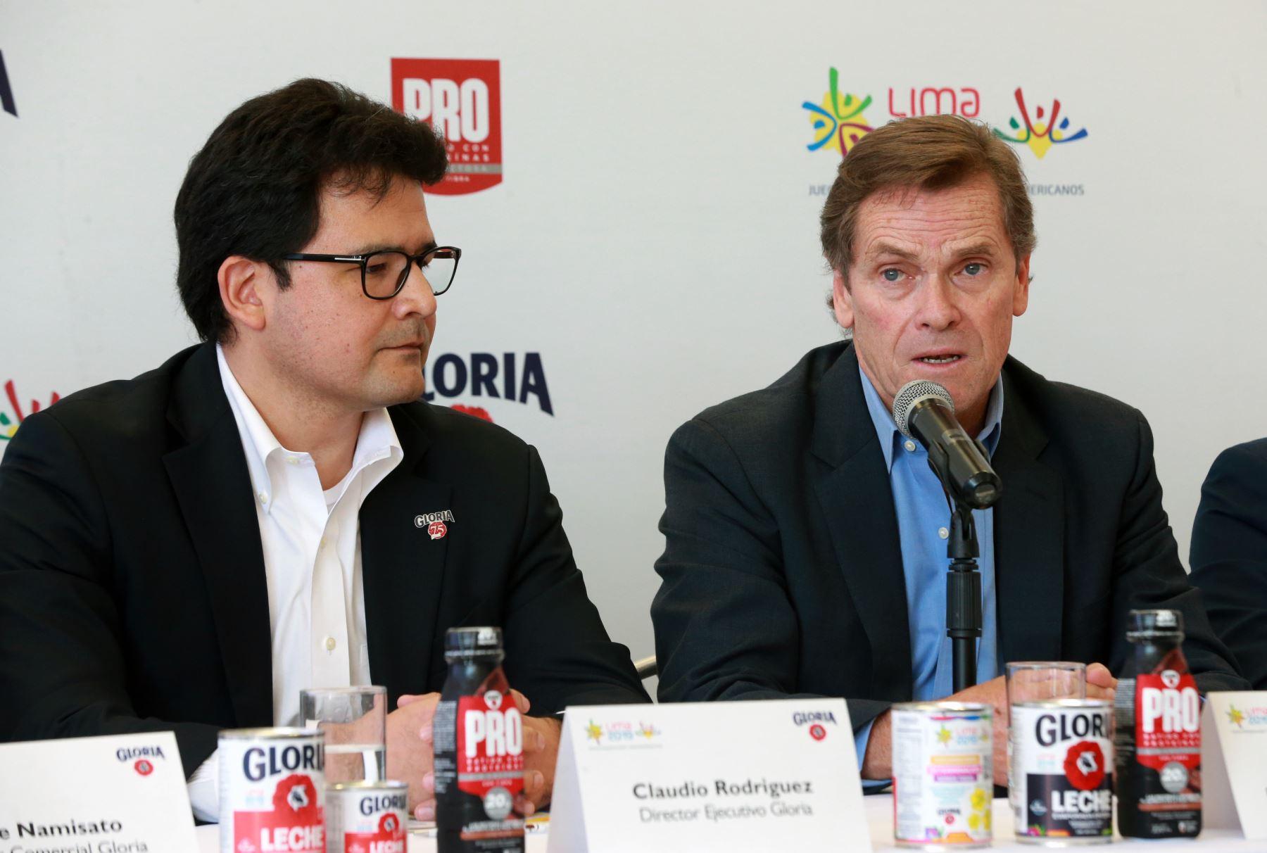 En conferencia de prensa se anuncia a Gloria como nuevo patrocinador de  los Juegos  Panamericanos y Parapanamericanos Lima 2109. Foto: ANDINA/Norman Córdova