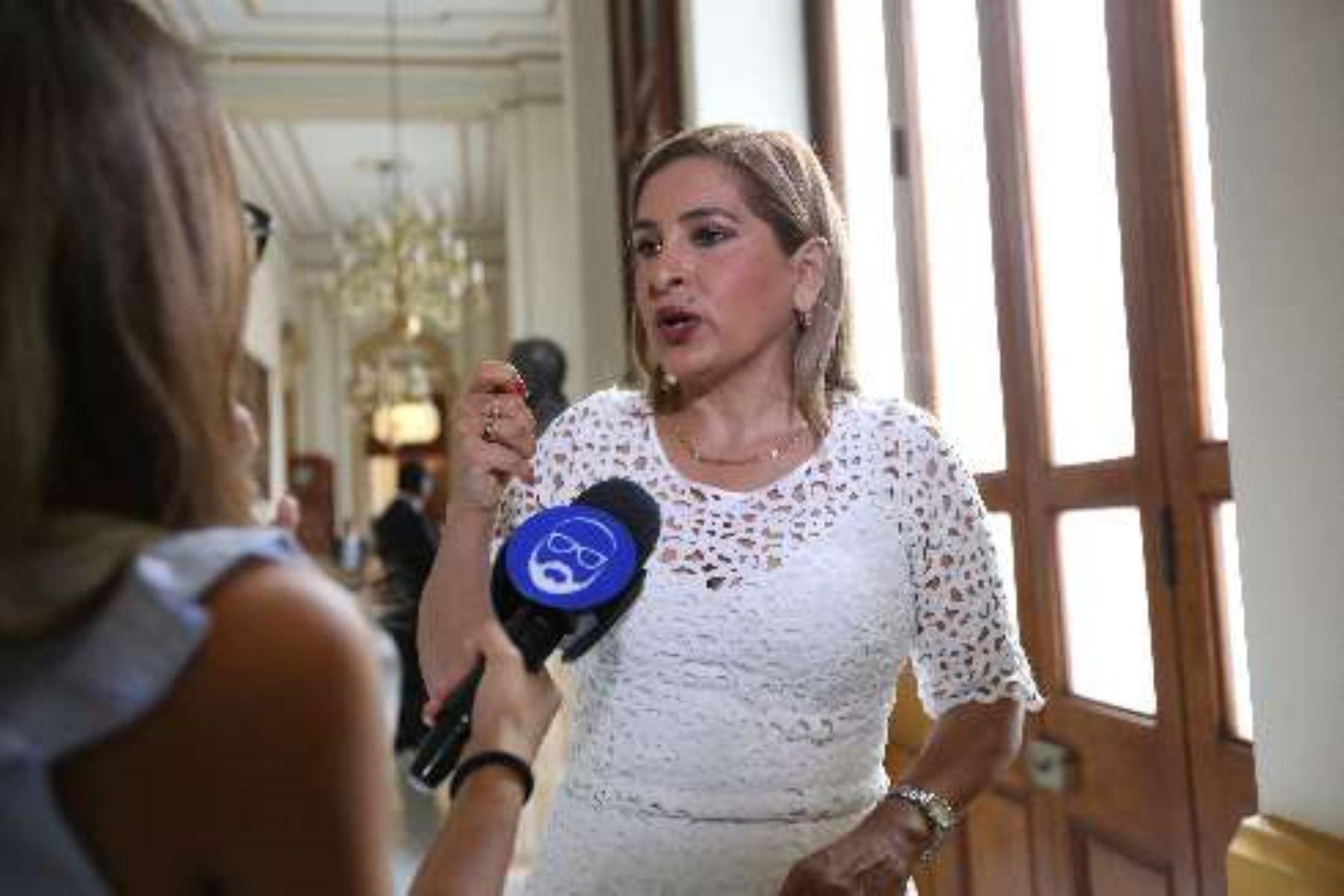 Congresista Maritza García, bancada Cambio 21.