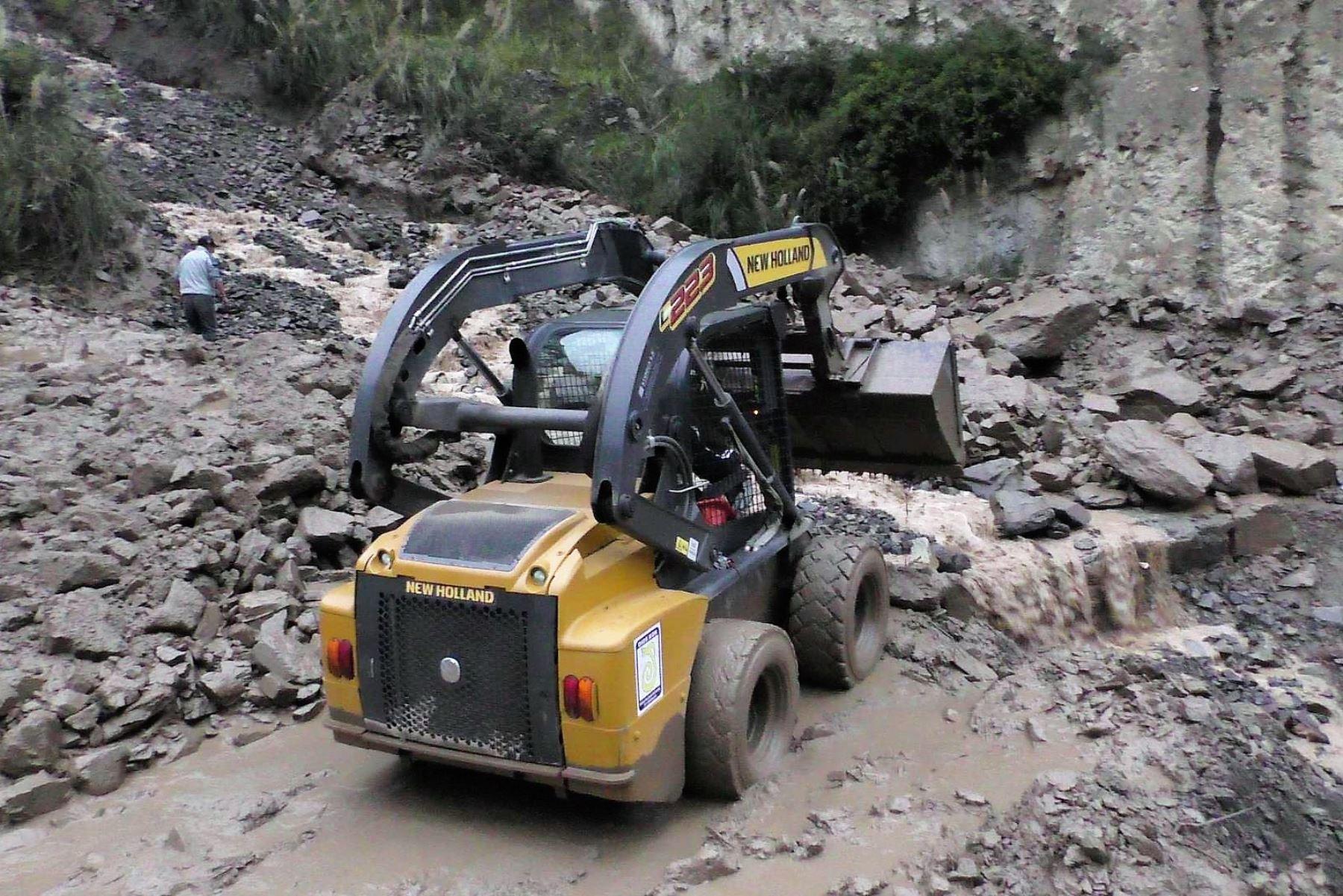 El distrito de Conchucos, en Áncash, fue el más afectado por la caída de un huaico a causa de las lluvias intensas. ANDINA