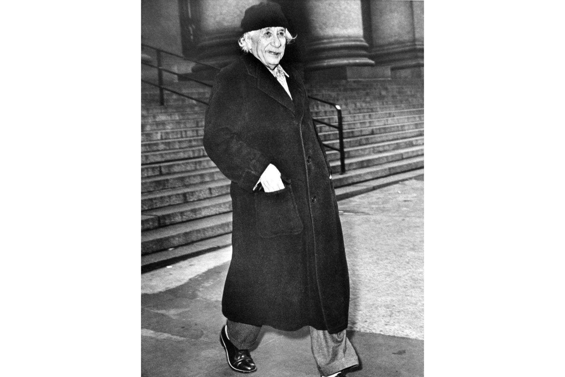 Retrato tomado en 1950 del físico de origen suizo-estadounidense Albert Einstein (1879-1955). Foto: AFP