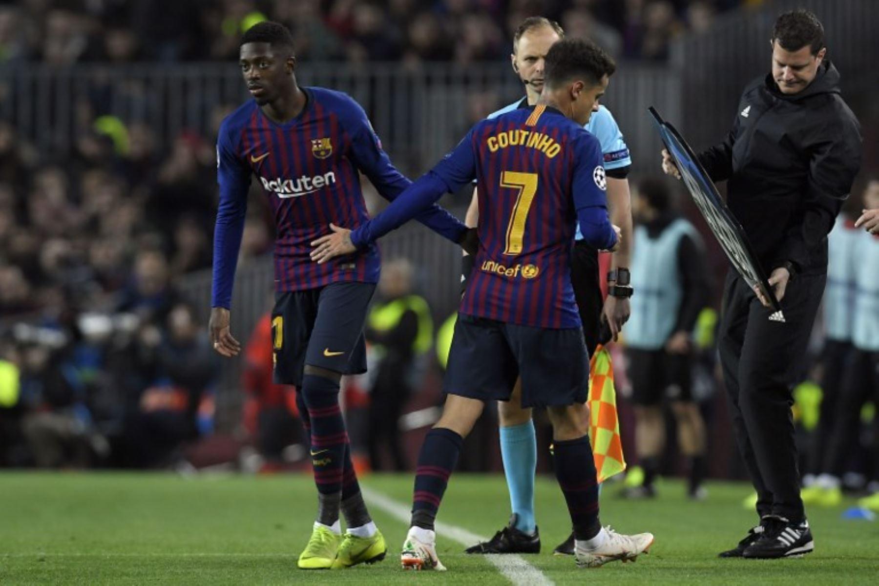Deembelé será una baja significativa para el Barcelona de cara a los cuartos de final de la Champions