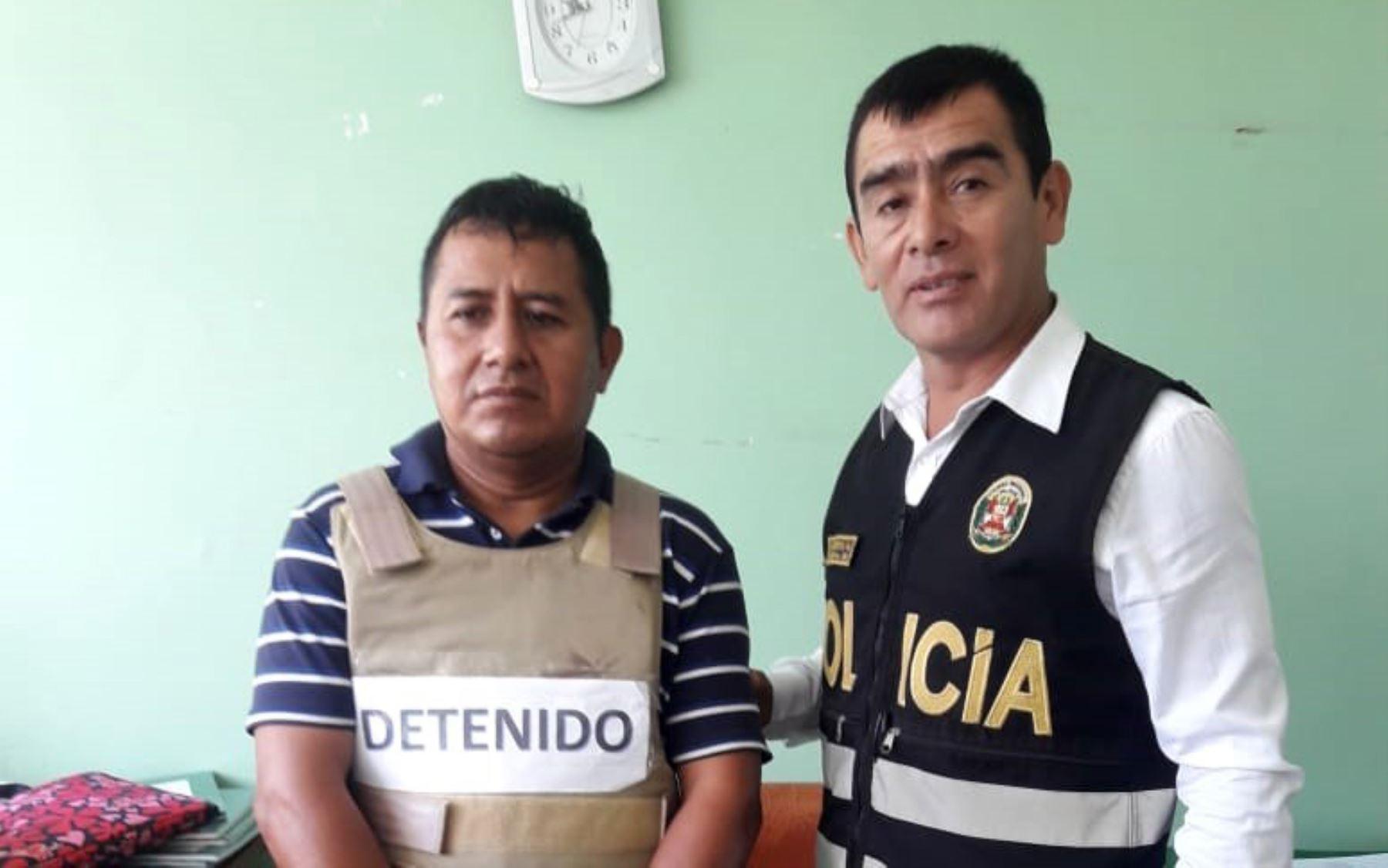 Gregorio Crisanto Tiquillahuanca (50), requisitoriado por el delito de terrorismo, fue intervenido en Chiclayo, región Lambayeque. Foto: ANDINA/Difusión