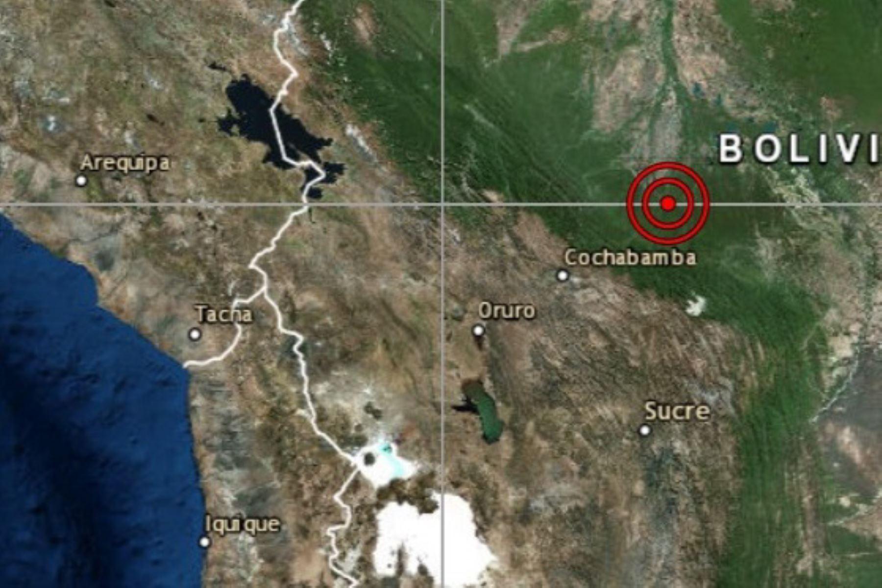 Sismo de magnitud 6.3 alarmó a Tacna. ANDINA/Difusión