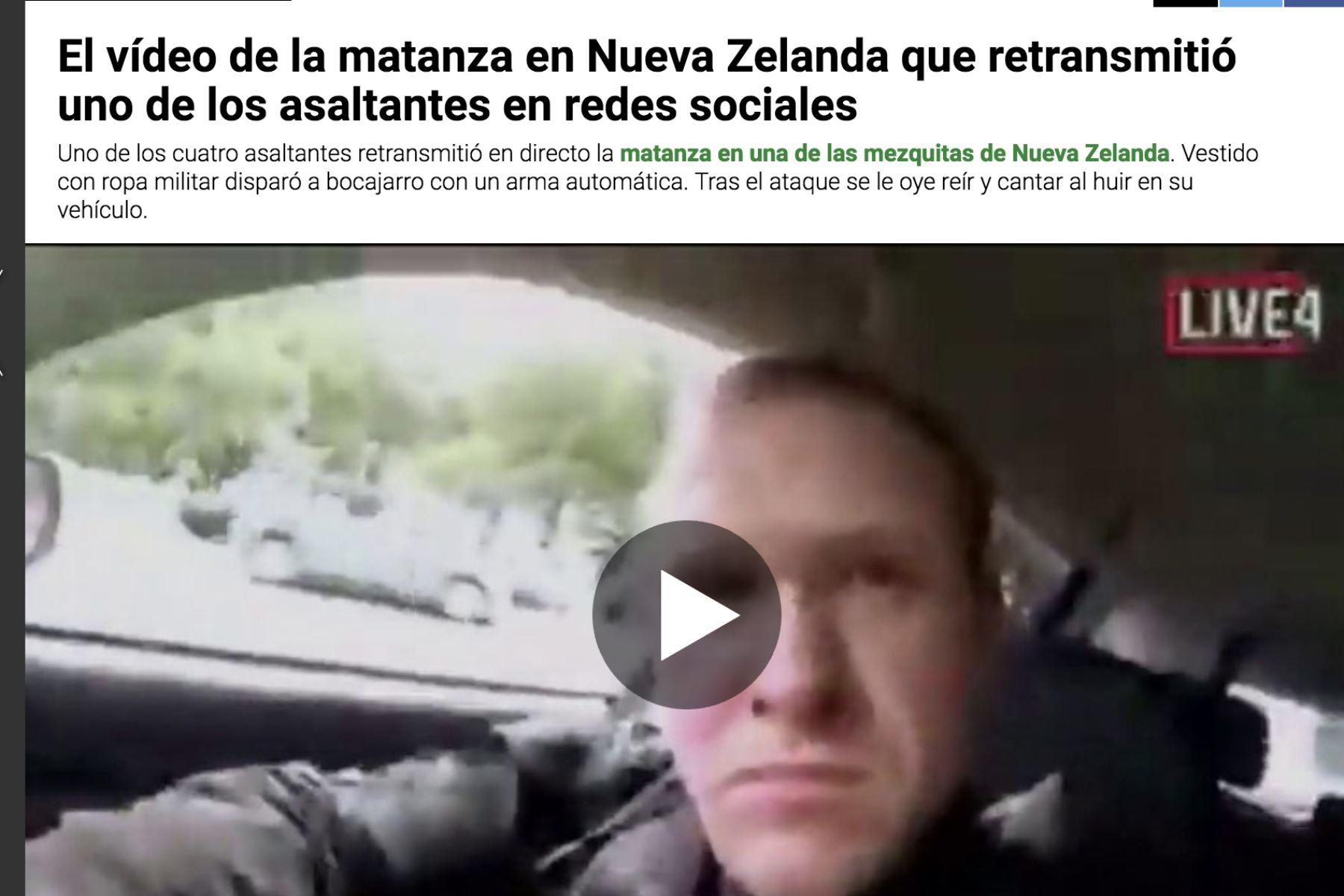Masacre De Nueva Zelanda Twitter: Agencia Peruana De Noticias Andina