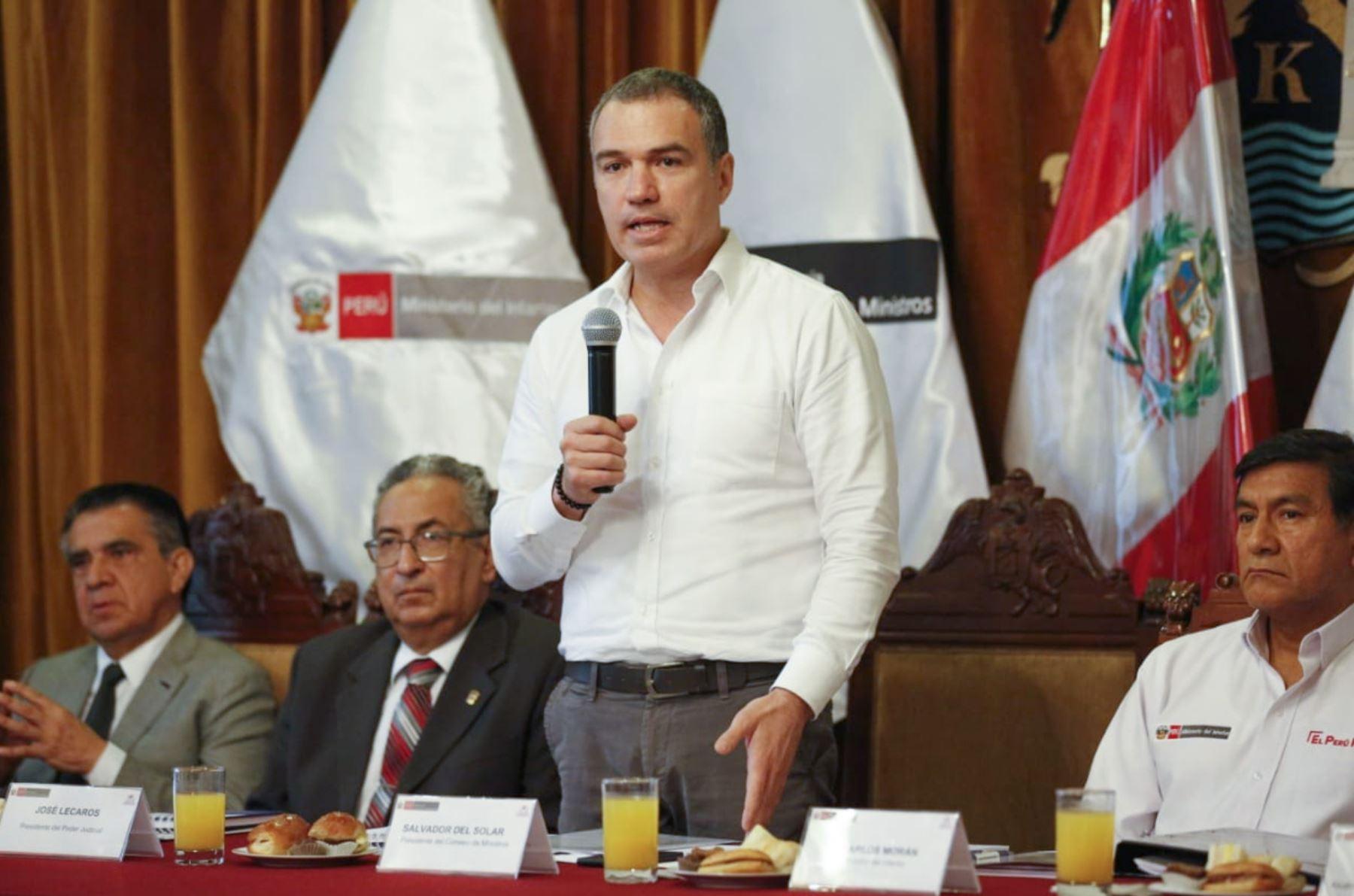 Jefe del Gabinete de Ministros, Salvador del Solar, presidió reunión del Conasec en Trujillo.
