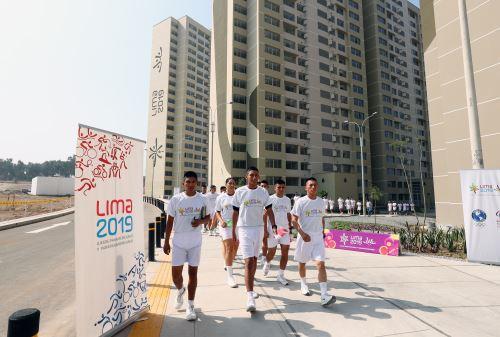 Todo listo en la Villa Panamaricana, el único complejo habitacional accesible y ecoeficiente en el Perú que albergará a 1,096 personas que participarán en los juegos Panamericanos y Parapanamericanos Lima 2019. ANDINA/Norman Córdova
