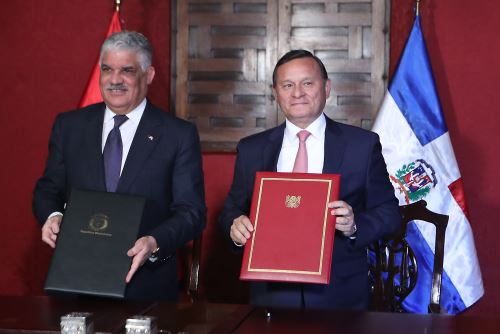 Cancilleres de Perú y República Dominicana importantes acuerdos