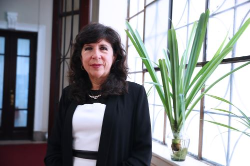 Jueza suprema titular Janet Tello Gilardi inició su carrera en la magistratura como jueza especializada y superior en materia penal en 1993. Foto: ANDINA/Norman Córdova.