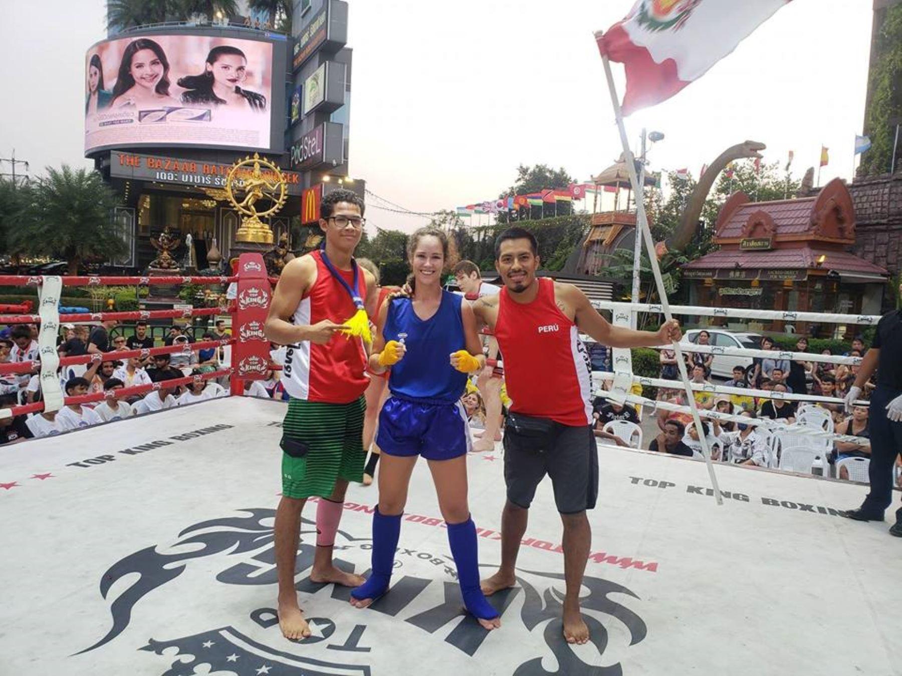Perú logra cuatro títulos mundiales en muay thai