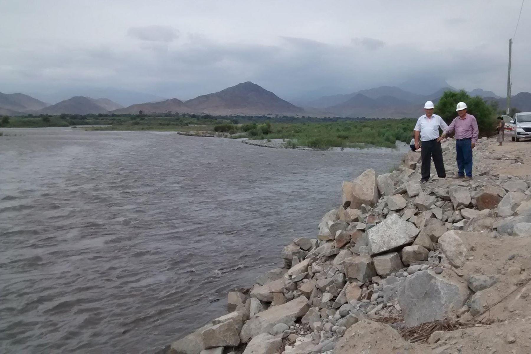 El caudal del Santa, el río principal de Áncash, alcanzó este mediodía los 396.5 metros cúbicos por segundo. Foto: ANDINA/Gonzalo Horna