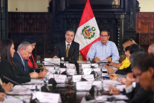 Presidente Vizcarra participa de la II Sesión del Comité para la Agenda Digital al Bicentenario